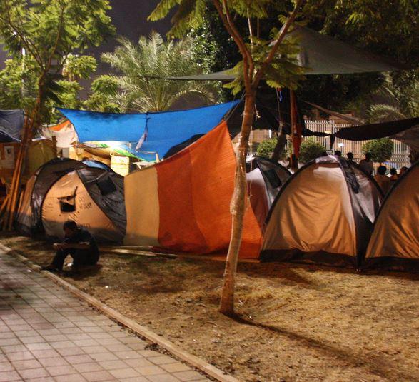 בני טל - האוהלים בפינת הרחובות לוינסקי-הר ציון